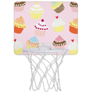 Zoet en Kleurrijk Patroon Cupcake Mini Basketbalring