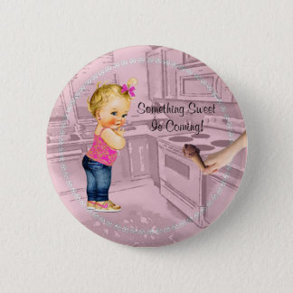 Zoet iets is de Komende Knoop van het Baby shower Ronde Button 5,7 Cm