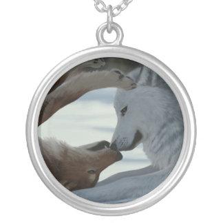 Zoet wolfspaar zilver vergulden ketting
