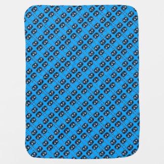 zoete blauwe katten vectorillustratie inbakerdoek