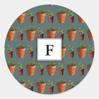 Zoete Ingemaakte Succulente Klantgerichte Druk Ronde Sticker