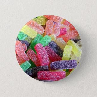 Zoete Kleurrijk van het snoep Ronde Button 5,7 Cm