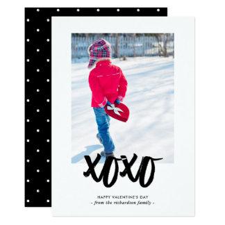 Zoete Kussen | Gelukkige Valentijnsdag met Foto 12,7x17,8 Uitnodiging Kaart