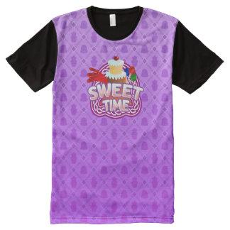 Zoete paarse Tijd Al Gedrukte T-shirt