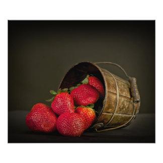 Zoete rode aardbeien foto afdruk