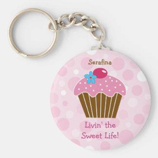 Zoete Roze Cupcake Keychain Sleutelhanger