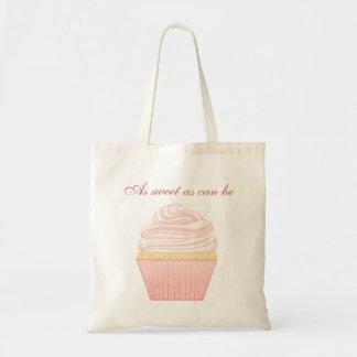 Zoete Roze Elegante Cupcake Draagtas