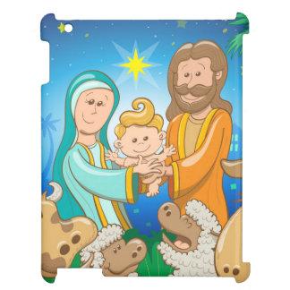 Zoete scène van nativity van baby Jesus Hoesje Voor iPad