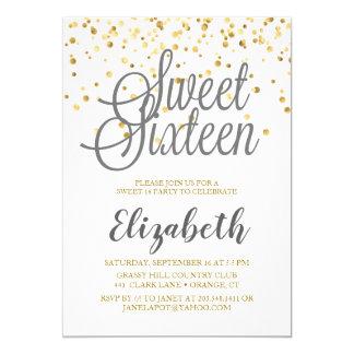 Zoete Uitnodiging 16 (Grijs, Wit, en Gouden Stip)