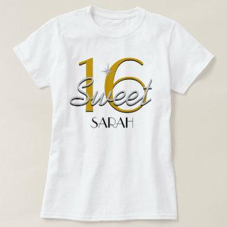 Zoete Zilveren/Gouden Fonkeling 16 T Shirt