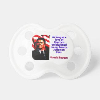 Zolang een Liefde van Vrijheid - Ronald Reagan Baby Speentjes