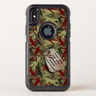 Zombie Camo met de Labels van de Hond OtterBox Commuter iPhone X Hoesje