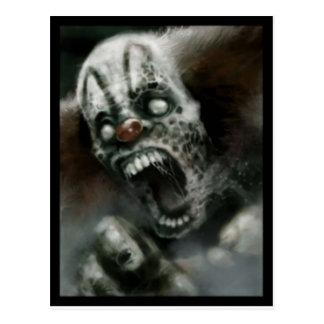 zombie clown briefkaart