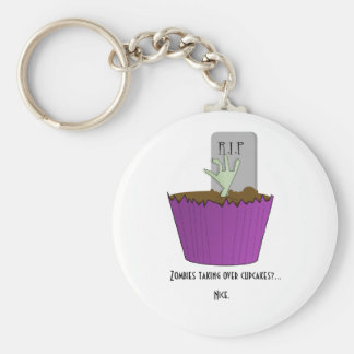 Zombie Cupcake Keychain Basic Ronde Button Sleutelhanger