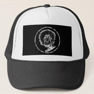 Zombie - de Zwarte & Witte Illustratie van de Trucker Pet