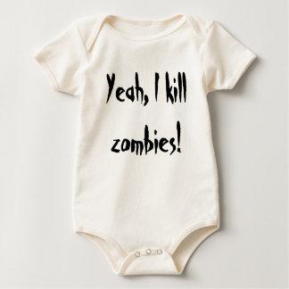 zombie moordenaar baby shirt