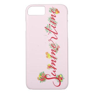 Zomer Bloemen - het Roze Hoesje van iPhone