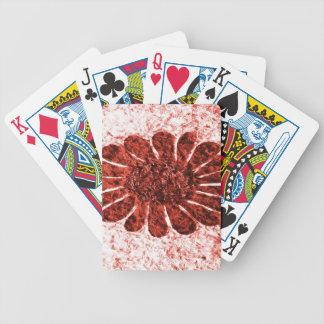 zon bloem in rode kleur poker kaarten