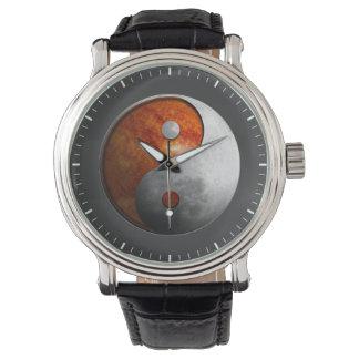 Zon en Maan Yin Yang Horloge