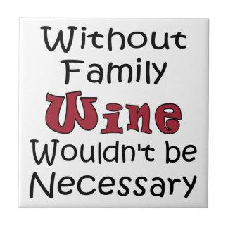 Zonder de Wijn van de Familie Tegeltje