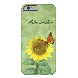 Zonnebloem en Vlinder Barely There iPhone 6 Hoesje