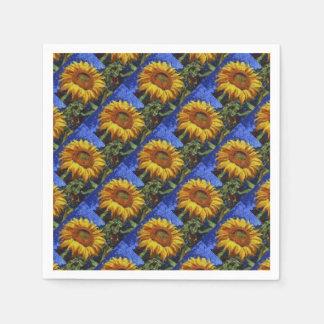 Zonnebloem in Van Gogh Style Papieren Servet