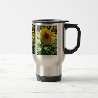 Zonnebloem met Bijen Reisbeker