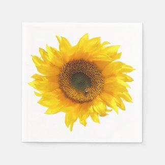 zonnebloem papieren servet