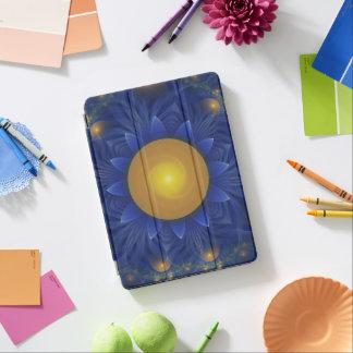 Zonnebloem van Lotus van de saffier de Blauwe en iPad Air Cover