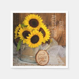 Zonnebloemen en het Huwelijk van de Gieter van de Wegwerp Servetten