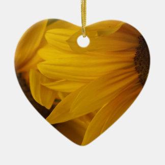 Zonnebloemen Keramisch Hart Ornament