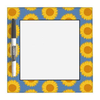 Zonnebloemen op Blauw. Bloemen Patroon Whiteboards