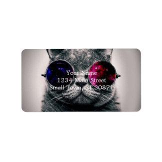 zonnebril kat addressticker