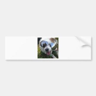 Zonnebril op hond ROOSKLEURIGE TOEKOMST voor ME Bumpersticker
