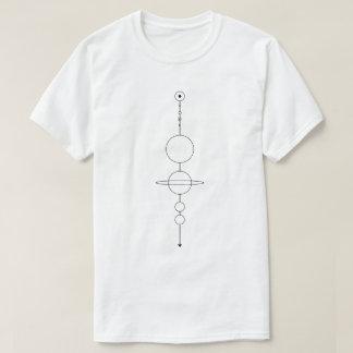 zonnestelsel schaal t shirt