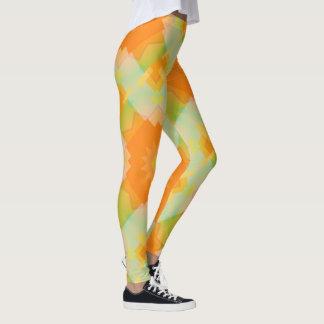 Zonnig Bloemen Geometrisch Patroon Legging