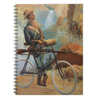 Zonsondergang 1897 van het Park van Yellowstone Ringband Notitieboek
