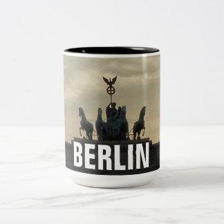 Zonsondergang bij de Poort van Brandenburg, Tweekleurige Koffiemok