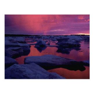Zonsondergang bij Hudson Baai, Canada Briefkaart