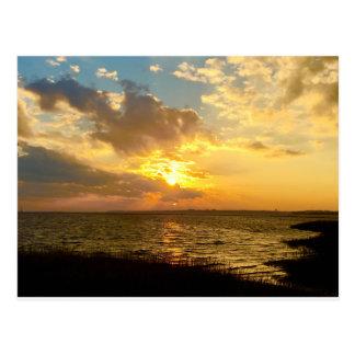 Zonsondergang Briefkaart