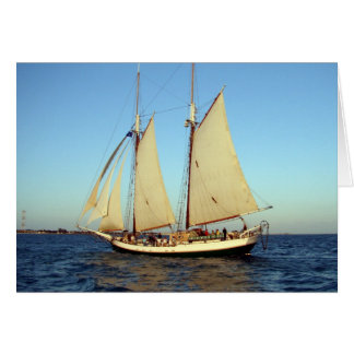 zonsondergang clipper schip briefkaarten 0