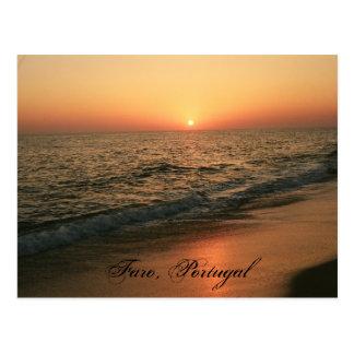 Zonsondergang: Faro, Portugal Briefkaart