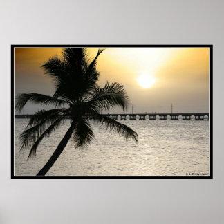 Zonsondergang in de Sleutels van Florida Poster