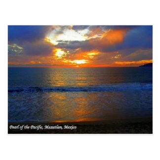 Zonsondergang in Mazatlan Mexico Briefkaart
