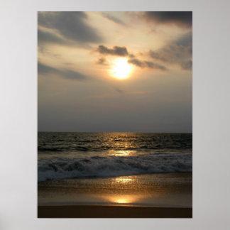 Zonsondergang in Mazatlan Poster