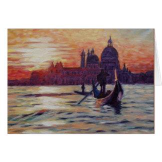 Zonsondergang in Venetië Briefkaarten 0