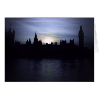 Zonsondergang-Londen-parlement-groot Wenskaart Ben