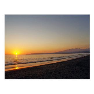 Zonsondergang op Bucerias Strand, Mexico Briefkaart