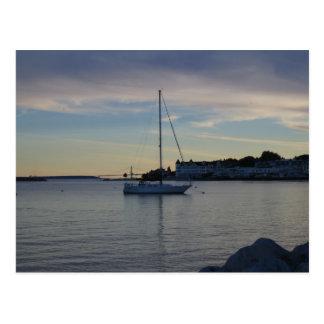 Zonsondergang op Eiland Mackinaw Briefkaart