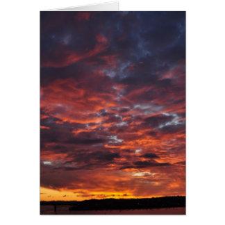 Zonsondergang over Auckland Briefkaarten 0
